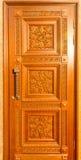 Facade of wooden door Stock Photography