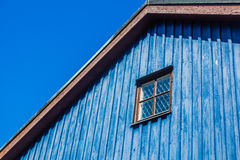 Facade of the wooden house Stock Photos