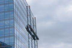 Facade work on a skyscraper Stock Photo