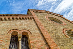Facade of XIV Catholics parish church in Italy Royalty Free Stock Photo