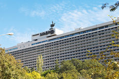 Facade of Yalta Hotel Complex in Crimea Stock Image