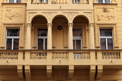 Facade of yellow building Royalty Free Stock Photography