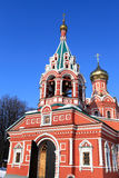 Facade of Znamenskaya Church Stock Images