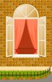 facadehusfönster Royaltyfri Fotografi