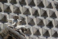 Facaden av kyrkan av Gesu', en Naples, Italien Royaltyfri Fotografi