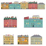 facades royaltyfri illustrationer