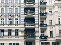 Facades of altbau buildings in Penzlauer Berg, Berlin Stock Photography