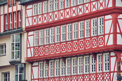 Facades at Altstadt of Frankfurt am Main. Town hall, Germany. Facades at Altstadt of Frankfurt am Main Royalty Free Stock Images