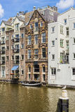 Facades in Amsterdam, Netherlands. Stock Photos
