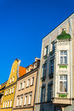 Facades of ancient tenements Stock Photography