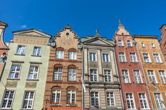 Facades of ancient tenements Royalty Free Stock Photos