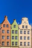 Facades of ancient tenements Stock Photo