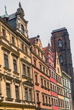 Facades of ancient tenements Stock Image