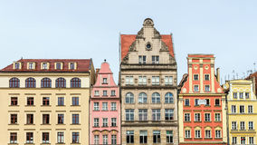 Facades of ancient tenements Royalty Free Stock Photography