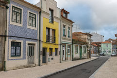 Facades of Aveiro, the portuguese venice.  Portugal. Royalty Free Stock Photos