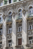 Facades Of Belgrade - Former Russian Czar Restaurant Building - Detail. Photograph of the former Russian Czar restaurant building facade detail, Belgrade Stock Photo