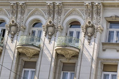 Facades Of Belgrade - Former Russian Czar Restaurant Building - Detail. Photograph of the former Russian Czar restaurant building facade detail, Belgrade Royalty Free Stock Images