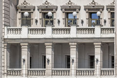 Facades of Belgrade - National Theater Building Frontage Balcony Royalty Free Stock Photography