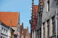 Facades in Bruges (Belgium) Stock Image