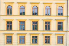 Facades of buildings built in the last century Stock Photography
