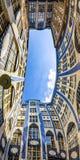 Facades of buildings in Hackescher Markt in Berlin, Germany royalty free stock images
