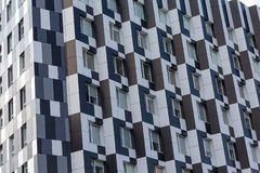 Facades of buildings in a modern style Stock Images