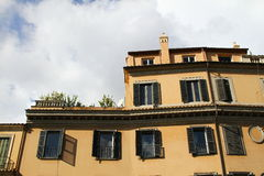 Facades of buildings in Rome Royalty Free Stock Image