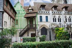 Facades of Buildings in Rouen. Facades of buildings of Rouen in France Royalty Free Stock Photography