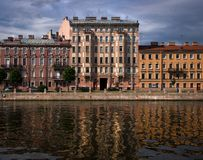 Facades of buildings of St. Petersburg. royalty free stock photography