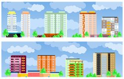 Facades of buildings Royalty Free Stock Images