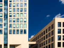 Facades of business buildings in Frankfurt, Germany Stock Photo