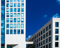 Facades of business buildings in Frankfurt, Germany Royalty Free Stock Images
