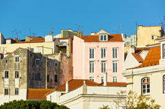 Facades in the city of Lisbon Royalty Free Stock Photography