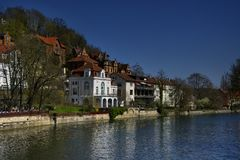 Facades Cityscape of Tubingen Schwarzwald germany stock image