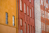 Facades of colorful houses Royalty Free Stock Images