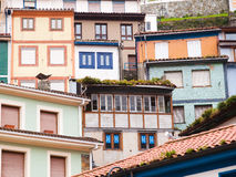 Facades details in Cudillero Royalty Free Stock Photos