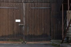 Facades and details of a vintage backyard. In south germany historical city Stock Images