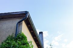 Facades and details of a vintage backyard. In south germany historical city Stock Photos