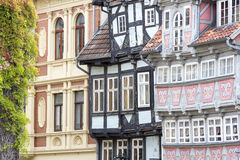 Facades of half-timbered houses Stock Photography