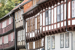 Facades of half-timbered houses Royalty Free Stock Image