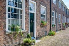 Facades historic Beguinage in the Dutch city of Breda Royalty Free Stock Photos