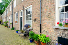 Facades in a historic beguinage in the Netherlands Stock Photography