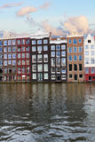 Facades of historic buildings,  Amsterdam Royalty Free Stock Images