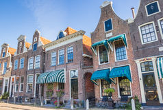 Facades of historical houses in the harbor of Blokzijl Royalty Free Stock Photography