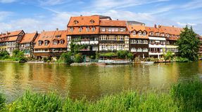 Facades of houses in Bamberg Bavaria Royalty Free Stock Photography