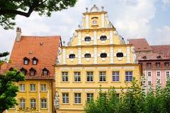 Facades of houses in Bamberg, Bavaria Royalty Free Stock Photos