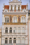 The facades of houses in the Old Town of Prague Stock Images