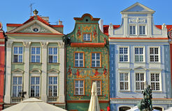 Facades of houses in Poznan Stock Photo