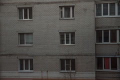 Facades of houses. Types of multiple windows Royalty Free Stock Image