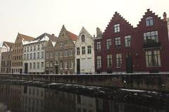 Facades i Bruges royaltyfri bild